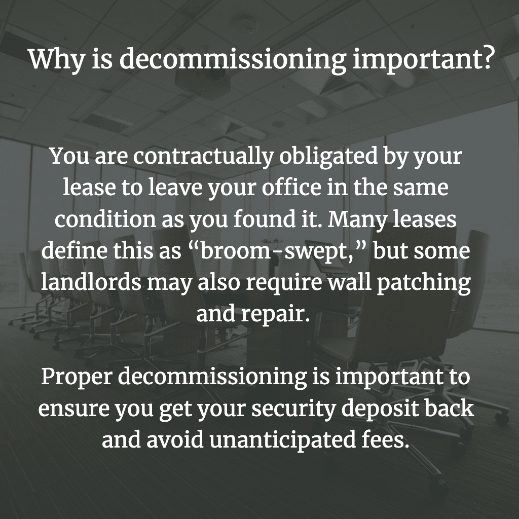 Why is decommissioning important?